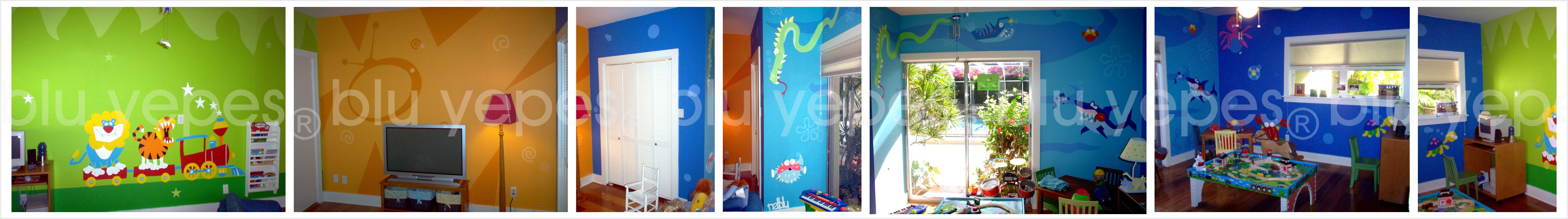 Aquarium Mural – Playroom – Monica Yepes -> Aquarium Design Mural